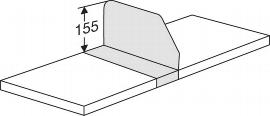 Kerkmann 8719 Fachteiler P 500 verschiebbar für Fachbodentiefe 30 cm