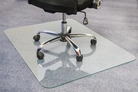ClearTEX Gaciermatmat Bodenschutzmatte FC123648EG aus Glas für alle Böden 90x120cm kristallklar