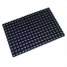 DoorTEX octomat Eingangsmatte FC481222OCBK 100 % Gummi 120 x 80 cm rechteckig Schwarz