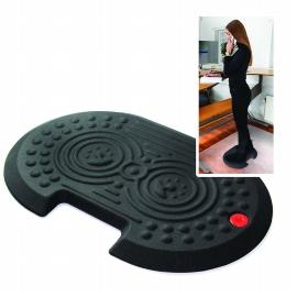Floortex AFS-TEX Anti-Ermüdungsmatte System 2000x FCA21624XBK 40x60cm Schwarz konturiert für Sitz-/Steharbeitsplätze