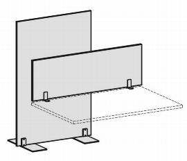 Geramöbel Trennwände Eco Tischaufsatz SWS270804 (BxTxH) 800x27x400mm Rot