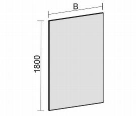 Geramöbel Trennwände Eco Stellwand SWS270818 (BxTxH) 800x27x1800mm Rot