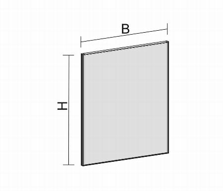 Geramöbel Trennwände Pro Stellwand SWS410814 (BxTxH) 800x41x1400mm Rot