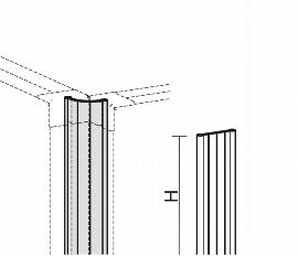 Geramöbel Winkelverbindung 90°-180° für Trennwände Eco ZBS27R06 Aluminium Höhe 600mm