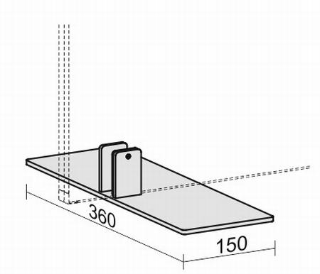 Geramöbel Standfuß für Trennwände Eco ZBS27S01 Aluminium (BxT) 130x360mm