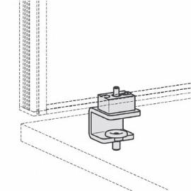 Geramöbel Tischklemme für Tischaufsätze Pro ZBS41S08 2er-Set