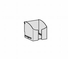 Geramöbel Zettelbox ZBS41S15 zum Einhängen in der Funktionsleiste