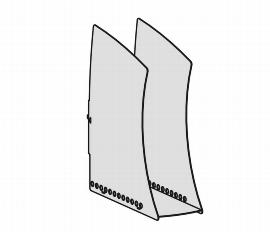 Geramöbel Stehsammler ZBS41S16 zum Einhängen in der Funktionsleiste