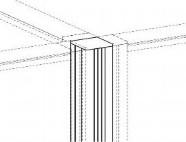 Geramöbel Verbindungssäule 4x 90° ZBS41V06 Höhe 600mm