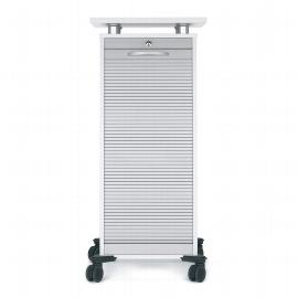 Geramöbel Rollladen CADDY 01HR mobiler Büroconatiner mit Hängeregsitartur (HxBxT) 117x50x45cm Silber/Ahorn
