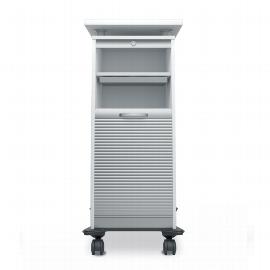 Geramöbel Rollladen CADDY 01SF mobiler Büroconatiner mit Schubladen (HxBxT) 117x50x45cm Silber/Ahorn