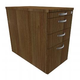 Geramöbel Standcontainer 0308HR1 mit Hängeregister und 2 Metall-Schüben (BxTxH) 438x800x720 Ahorn/Ahorn/Ahorn