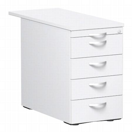 Geramöbel Standcontainer 0310SF4 mit 4 Metall-Schubfächern (BxTxH) 438x800/1000x720mm Ahorn/Ahorn/Ahorn