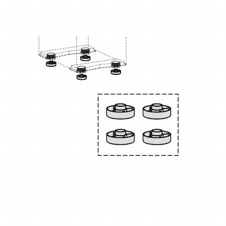 Set Höhenausgleichsringe (4 Stück) stapelbar, zur Erhöhung des Standcontainers