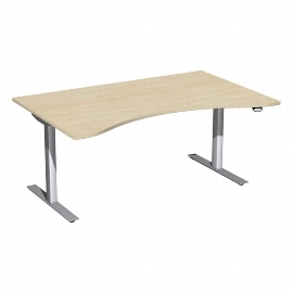 Geramöbel 08F1622 Elektro-Hubtisch ERGOform (BxTxH) 1600x800x650-1250mm Ahorn/Silber