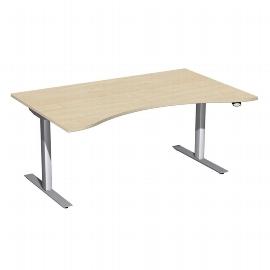 Geramöbel 08F1822 Elektro-Hubtisch ERGOform (BxTxH) 1800x800x650-1250mm Ahorn/Silber