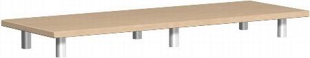 Geramöbel Aufsatzplatte Pro 10AS120 (BxTxH) 1200x425x111mm Ahorn