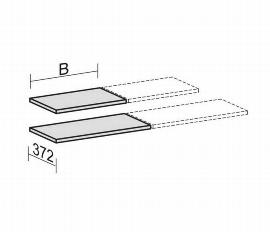 Geramöbel 10EBMS12 Einlegeboden mit Bodenträger (BxTxH) 1200x372x25mm Ahorn