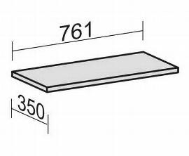 Geramöbel Einlegeboden 10EBS08 mit Bodenträger für Breite 800mm ohne Mittelseite Ahorn