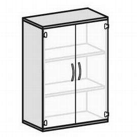 Geramöbel Glastürenschrank Pro 3OH 10G308 Glas satiniert nicht abschließbar (BxTxH) 800x425x1152mm Ahorn