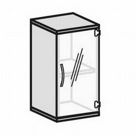 Geramöbel Glastürenschrank Pro 2OH 10GL204 Glas satiniert nicht abschließbar (BxTxH) 400x425x768mm Ahorn