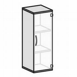 Geramöbel Glastürenschrank Pro 3OH 10GL304 Glas satiniert nicht abschließbar (BxTxH) 400x425x1152mm Ahorn