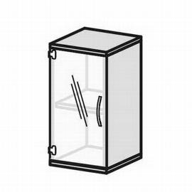 Geramöbel Glastürenschrank Pro 2OH 10GR204 Glas satiniert nicht abschließbar (BxTxH) 400x425x768mm Ahorn