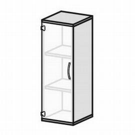 Geramöbel Glastürenschrank Pro 3OH 10GR304 Glas satiniert nicht abschließbar (BxTxH) 400x425x1152mm Ahorn