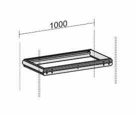 Geramöbel 10HRQ10 Hängeregistraturrahmen für Querrollladenschränke Korpusbreite 1000mm Schwarz