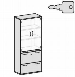 Geramöbel Modulschrank Pro 10M50819 Kombischrank 5OH (BxTxH) 800x425x1920mm Ahorn/Ahorn