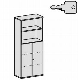 Geramöbel Modulschrank Pro 10M50828 Kombischrank 5OH (BxTxH) 800x425x1920mm Ahorn/Ahorn