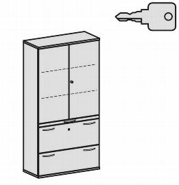 Geramöbel Modulschrank Pro 10M51022 Kombischrank 5OH (BxTxH) 1000x425x1920mm Ahorn/Ahorn