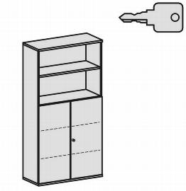 Geramöbel Modulschrank Pro 10M51028 Kombischrank 5OH (BxTxH) 1000x425x1920mm Ahorn/Ahorn