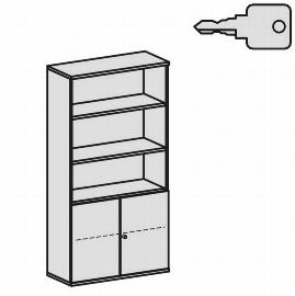 Geramöbel Modulschrank Pro 10M51029 Kombischrank 5OH (BxTxH) 1000x425x1920mm Ahorn/Ahorn