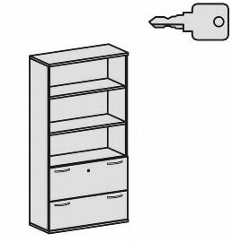 Geramöbel Modulschrank Pro 10M51030 Kombischrank 5OH (BxTxH) 1000x425x1920mm Ahorn/Ahorn