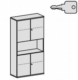 Geramöbel Modulschrank Pro 10M51032 Kombischrank 5OH (BxTxH) 1000x425x1920mm Ahorn/Ahorn