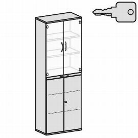 Geramöbel Modulschrank Pro 10M60814 Kombischrank 6OH (BxTxH) 800x425x2304mm Ahorn/Ahorn