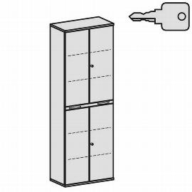 Geramöbel Modulschrank Pro 10M60815 Kombischrank 6OH (BxTxH) 800x425x2304mm Ahorn/Ahorn