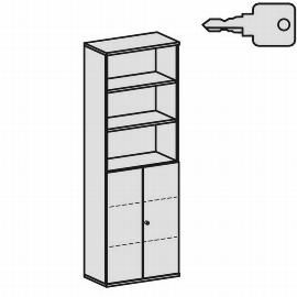 Geramöbel Modulschrank Pro 10M60828 Kombischrank 6OH (BxTxH) 800x425x2304mm Ahorn/Ahorn