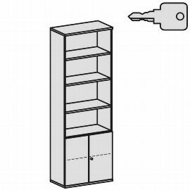 Geramöbel Modulschrank Pro 10M60829 Kombischrank 6OH (BxTxH) 800x425x2304mm Ahorn/Ahorn