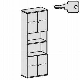 Geramöbel Modulschrank Pro 10M60837 Kombischrank 6OH (BxTxH) 800x425x2304mm Ahorn/Ahorn