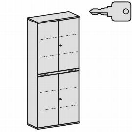 Geramöbel Modulschrank Pro 10M61015 Kombischrank 6OH (BxTxH) 1000x425x2304mm Ahorn/Ahorn