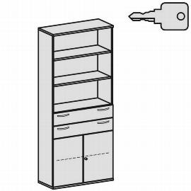 Geramöbel Modulschrank Pro 10M61016 Kombischrank 6OH (BxTxH) 1000x425x2304mm Ahorn/Ahorn