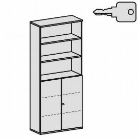 Geramöbel Modulschrank Pro 10M61028 Kombischrank 6OH (BxTxH) 1000x425x2304mm Ahorn/Ahorn
