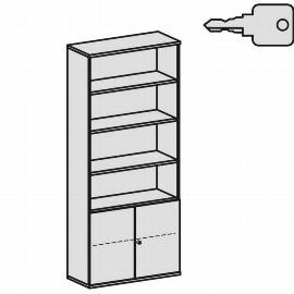 Geramöbel Modulschrank Pro 10M61029 Kombischrank 6OH (BxTxH) 1000x425x2304mm Ahorn/Ahorn