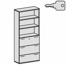 Geramöbel Modulschrank Pro 10M61030 Kombischrank 6OH (BxTxH) 1000x425x2304mm Ahorn/Ahorn