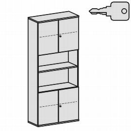 Geramöbel Modulschrank Pro 10M61037 Kombischrank 6OH (BxTxH) 1000x425x2304mm Ahorn/Ahorn