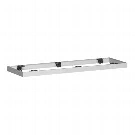 Geramöbel Metallsockel höhe 50mm 10MSQ12 für Querrollladenschrank Schrankbreite 1200mm Silber