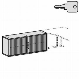 Geramöbel Anstell-Querrollladenschrank Pro 10Q7216 mit Stellfüßen (BxTxH) 1600x425x720mm Ahorn