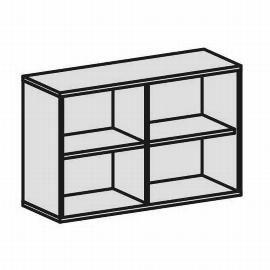Geramöbel Regal 2OH Serie Pro 10R212 mit 2 Einlegeböden (BxTxH) 1200x425x768mm Ahorn